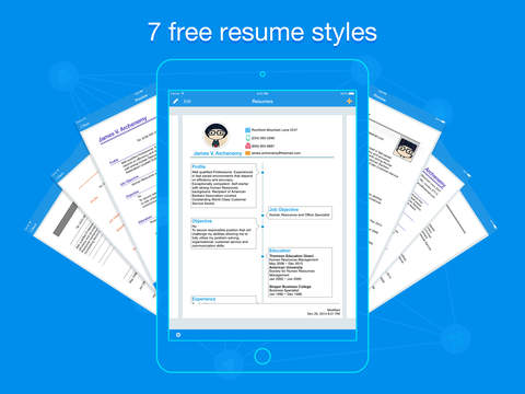 Free Resume Builder App. Empty Cv Template