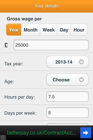 SalaryBot Salary Calculator free iPhone app App Decide