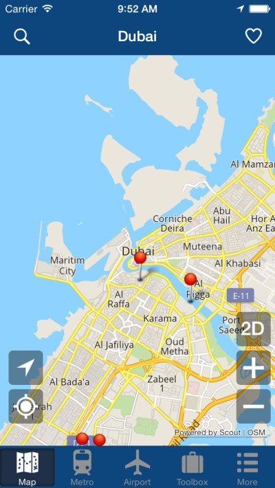 App Shopper: Dubai Offline Map - City Metro Airport and Travel Plan (Travel)