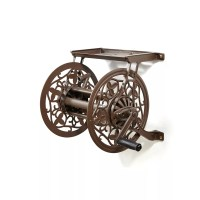 Decorative Cast Aluminum Wall Mount Garden Hose Reel - Buy ...