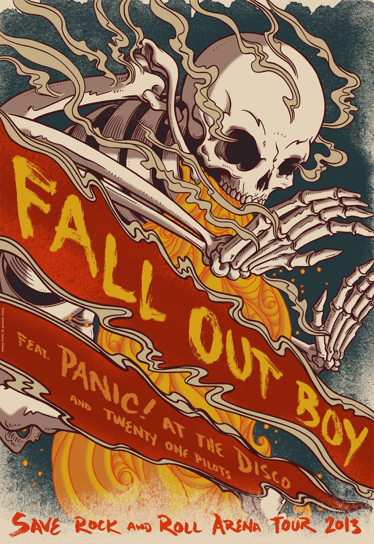 Fall Out Boy Mania Wallpaper Ancillary Task Digipak Advert Analysis Fall Out Boy