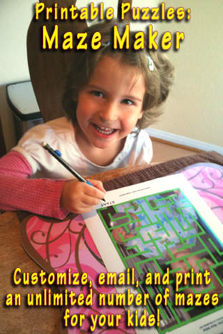 Printable Puzzles Maze Maker iPhone / iPad app App Decide