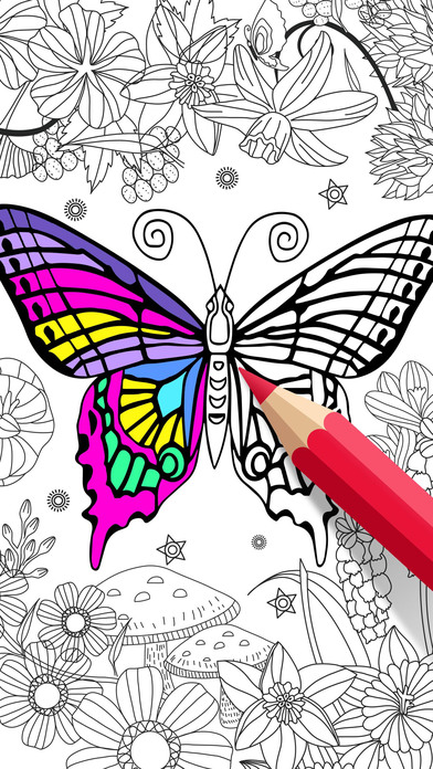 App shopper animal coloring book for adults color