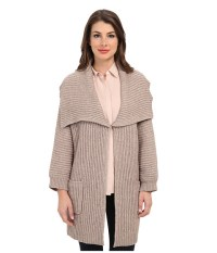 Vince Camuto Shawl Collar Sweater Coat Grain Heather - 6pm.com