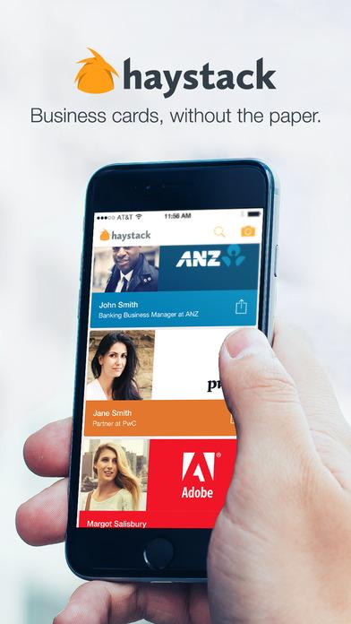 Haystack Beautiful Digital Business Cards - AppRecs