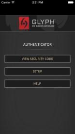 Authenticator Code Glyph