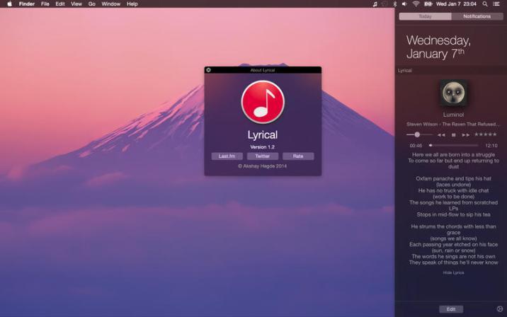 2_Lyrical_Widget_for_Lyrics_and_iTunes_controls.jpg