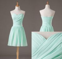 Backless Pretty And Cute Mint Short Simple Prom Dresses ...