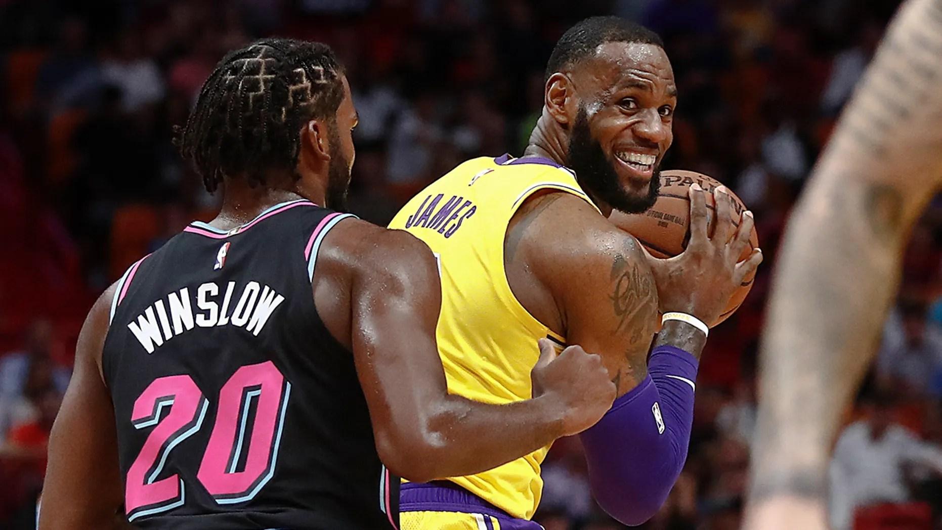 Lebron James Drops 51 As Lakers Burn Miami Heat Fox News