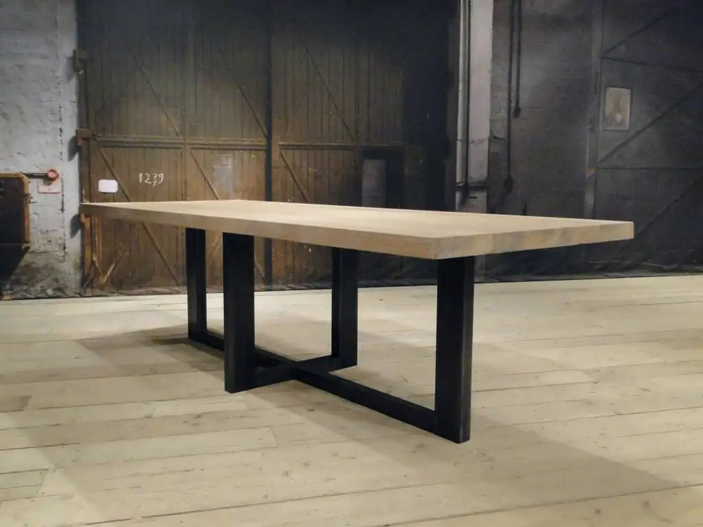 Eettafel hout beschermen maatwerk tafel split ovale tafel met