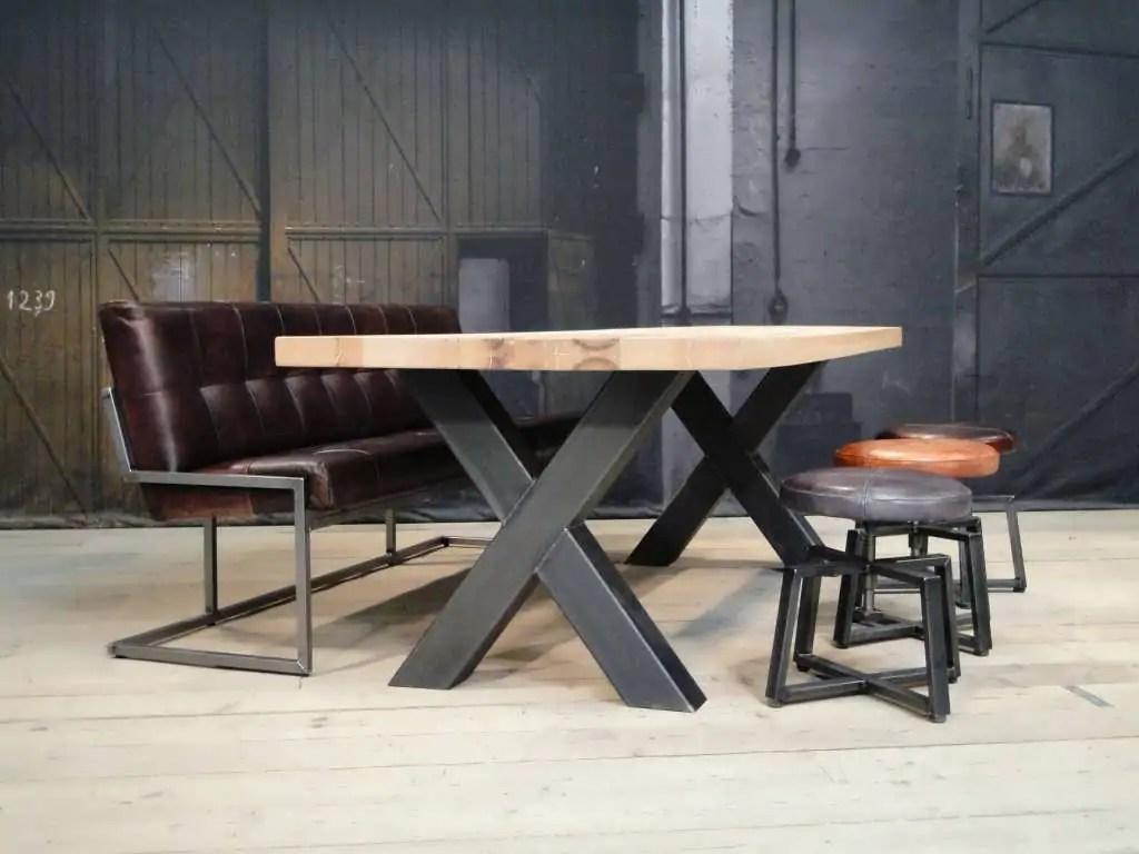 Eettafel lakken meubelatelier ginkgo handgemaakte boomschijftafels
