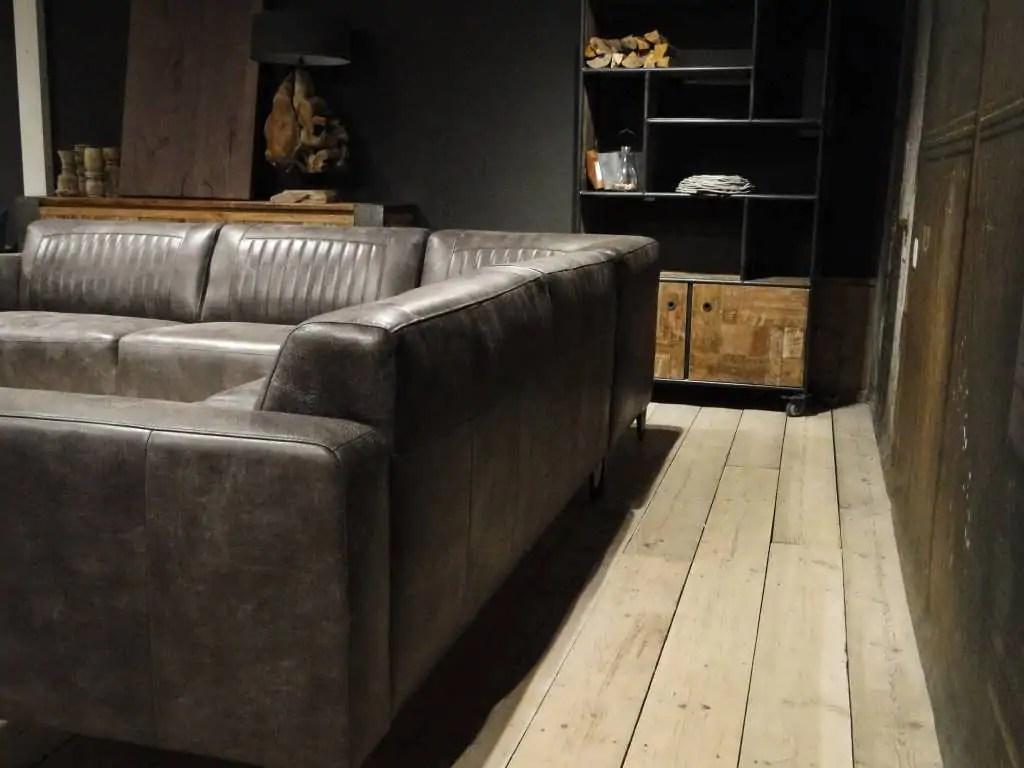 Grote grijze hoekbank goedkope grijze hoekbank loungebank grijs