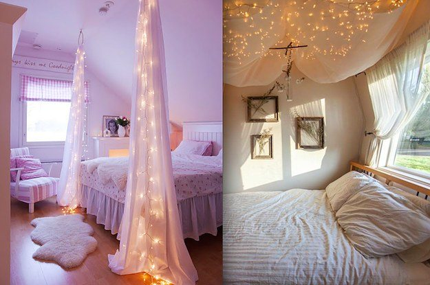 String Lights Make Your Own 20 Diy Canopy Bed Design Ideas