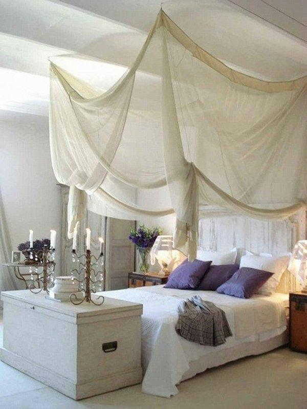 Schlafzimmer Lichterkette 20 Diy Canopy Bed Design Ideas