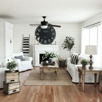10 Modern Farmhouse Living Room Ideas - Housely