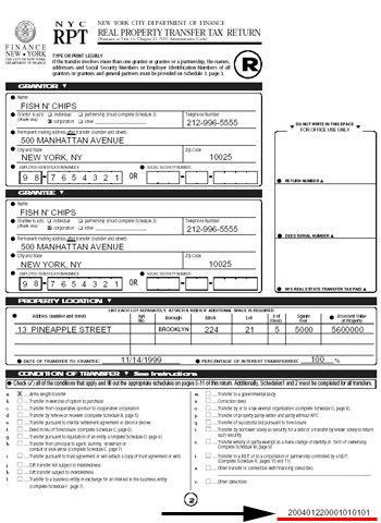 The Tax Transaction and Tax Form IDs