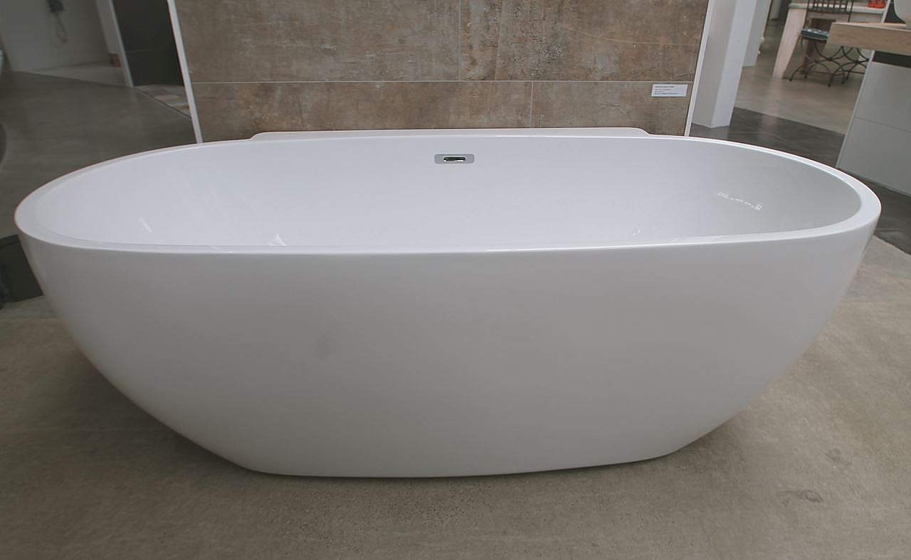 Losse Baden Luca Sanitair Primo Back To Wall Bad Acryl 175x85cm Wit Glans