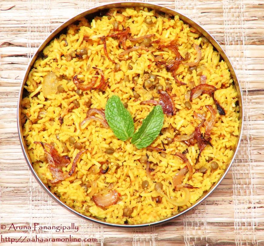 Recipe for Masoor Dal Biryani or Masur Dal Biryani