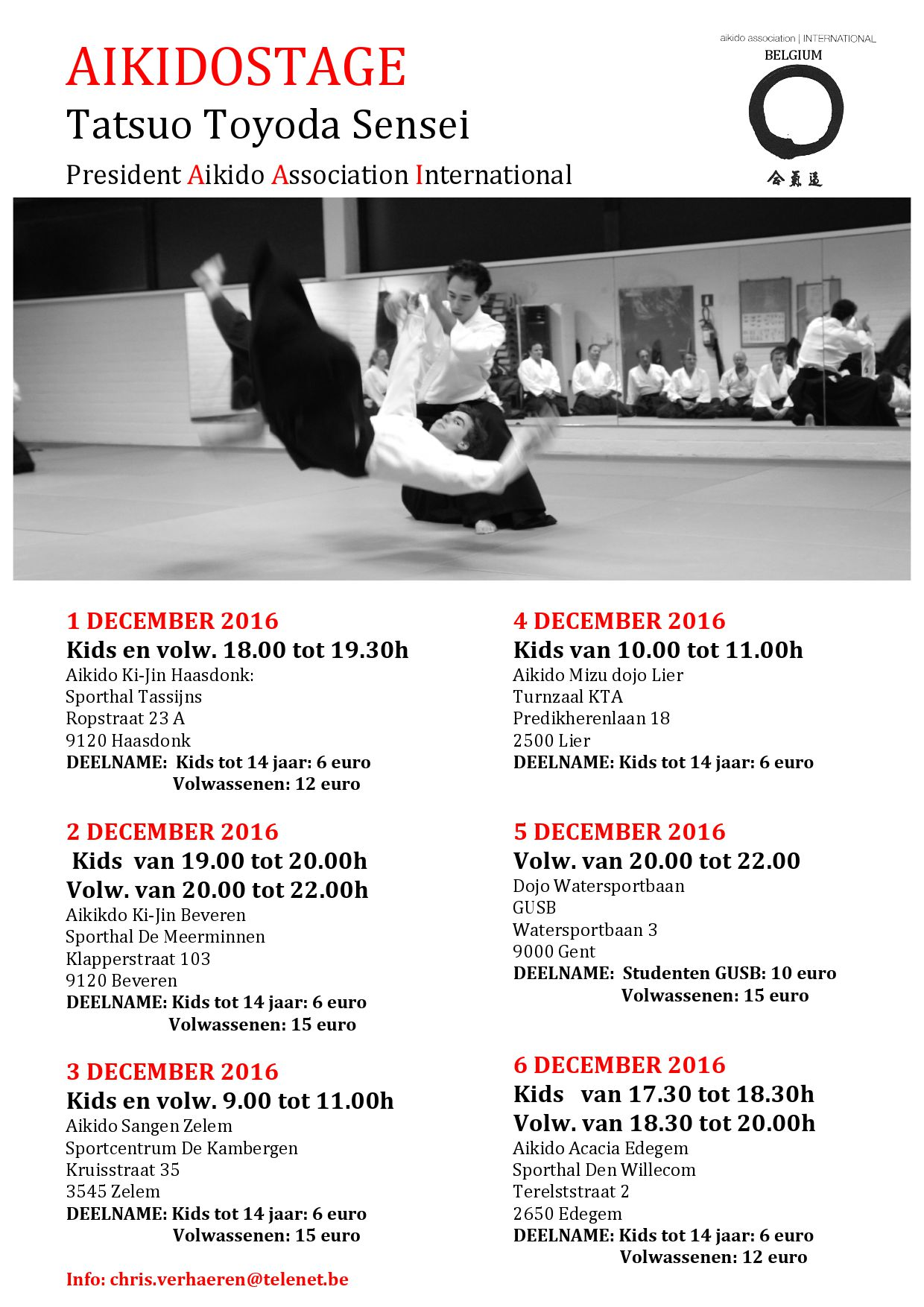 Zwembad Open Tot 22.00 Uur Aikido Association International Division Belgium | Just
