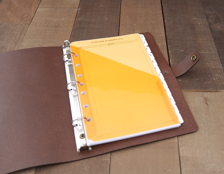 AALeather Leather 3-Ring Binder Notebook - notebook binder