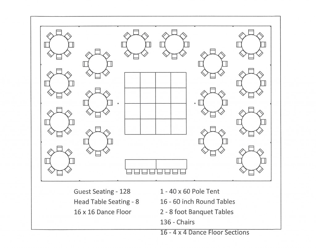 3 X 8 Table Tent Layouts And Seating Capacity Chart Aa Party And Tent