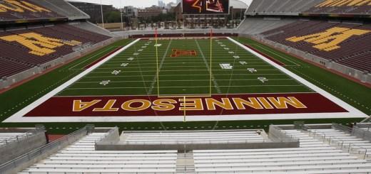 The University of Minnesota football stadium, where the NFL Minnesota Vikings will play this season's home games.