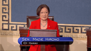 U.S. Sen. Mazie K. Hirono (D-HI) opposing a an attempt to penalize hundreds of cities and local jurisdictions across the country by stripping them of key federal funding and preventing local law enforcement officials from using commonsense approaches to protect their communities. The measure failed 54-45.