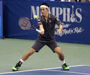 Nishikori at the 2015 Memphis Open.