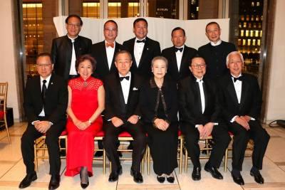 Committee of 100 leadership celebrating Lunar Near Year, top, from left, Howard Li, Clarence Kwan, Frank Wu, Guoqing Chen, Tan Dun, Oscar Tang, Henry Tang, Madam Ban, UN Secretary General Ban Ki-moon, Shirley Young, Herman Li, with Ban Ki-moon, Frank H. Wu, Tan Dun and Oscar Tang.