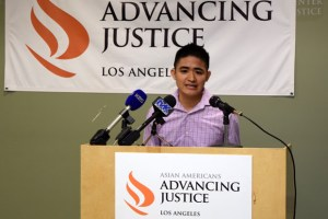 Anthony Ng, immigrant rights policy advocate for Advancing Justice-LA and a member of ASPIRE-LA, urged community members to vote for legislators who care about the needs of immigrant communities in this coming November election.