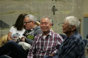 George Takei speaking to Takashi Hoshizaki.