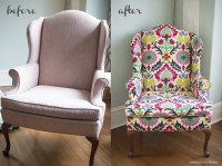 diy upholstered wingback chair. | emerald city diaries
