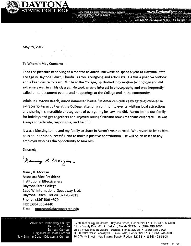 information technology letter of recommendation sample