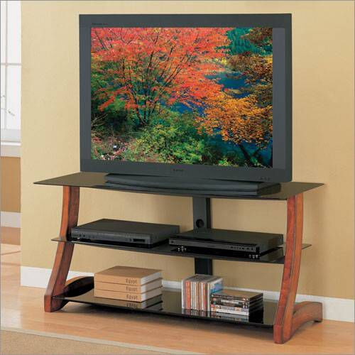 "Ashley Furniture Reviews Whalen Entertainment Centers 50"" Wood & Glass Tv Stand"
