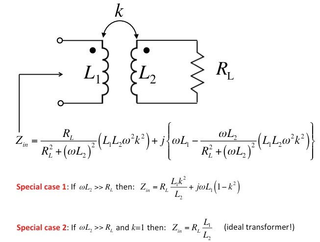 A pair of magnetically coupled coils - equivalent circuits
