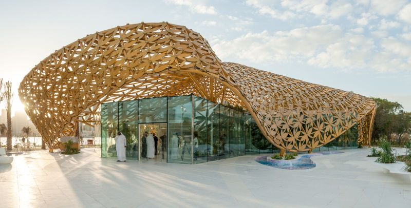 Butterfly Pavilion in Noor Island by 3deluxe