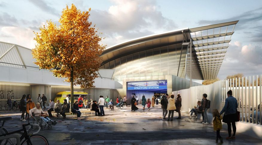 new entrance to Stratford Station