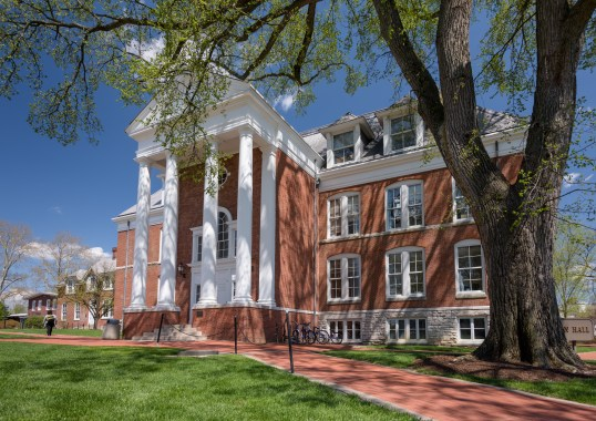 Various images of Recitation Hall and Old College Hall in the spring of 2015. - (Evan Krape / University of Delaware)
