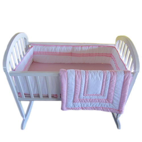 Baby Bassinet Valance Baby Doll Double Hotel Cradle Bedding Set 18 X 36