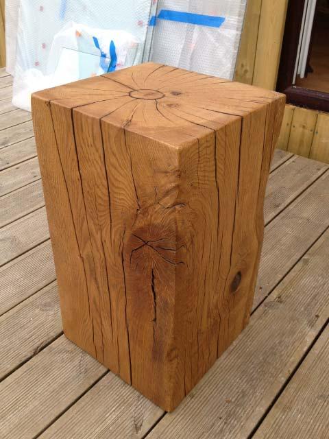 wood block tables