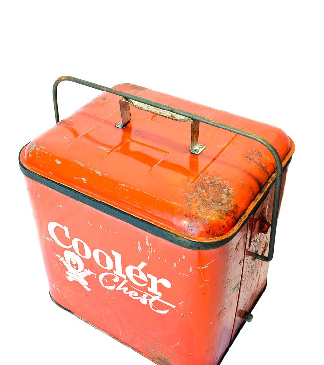 Red Metal Eskimo Cooler Chest