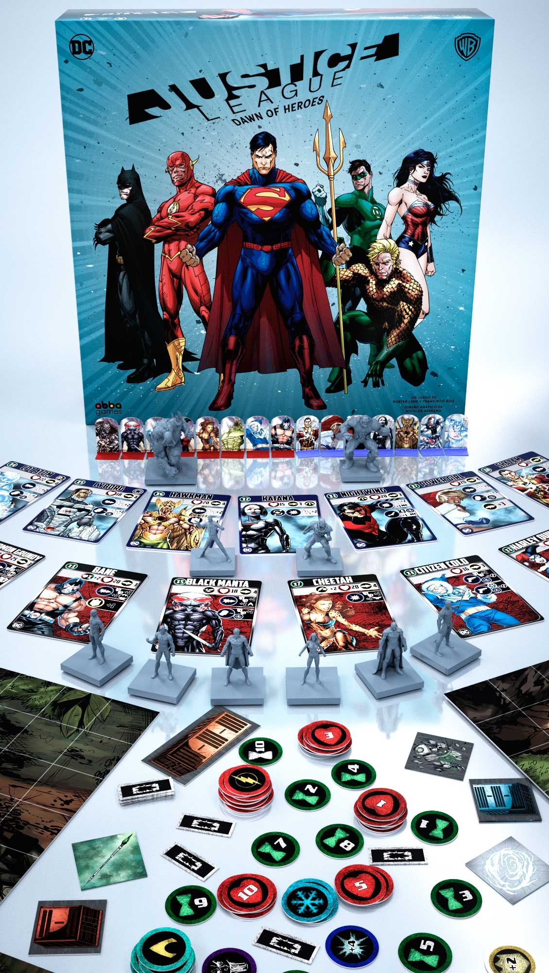 Juego De Mesa La Liga Justice League Dawn Of Heroes