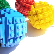 Toy Brick Christmas Ball Ornament Building Kit 2