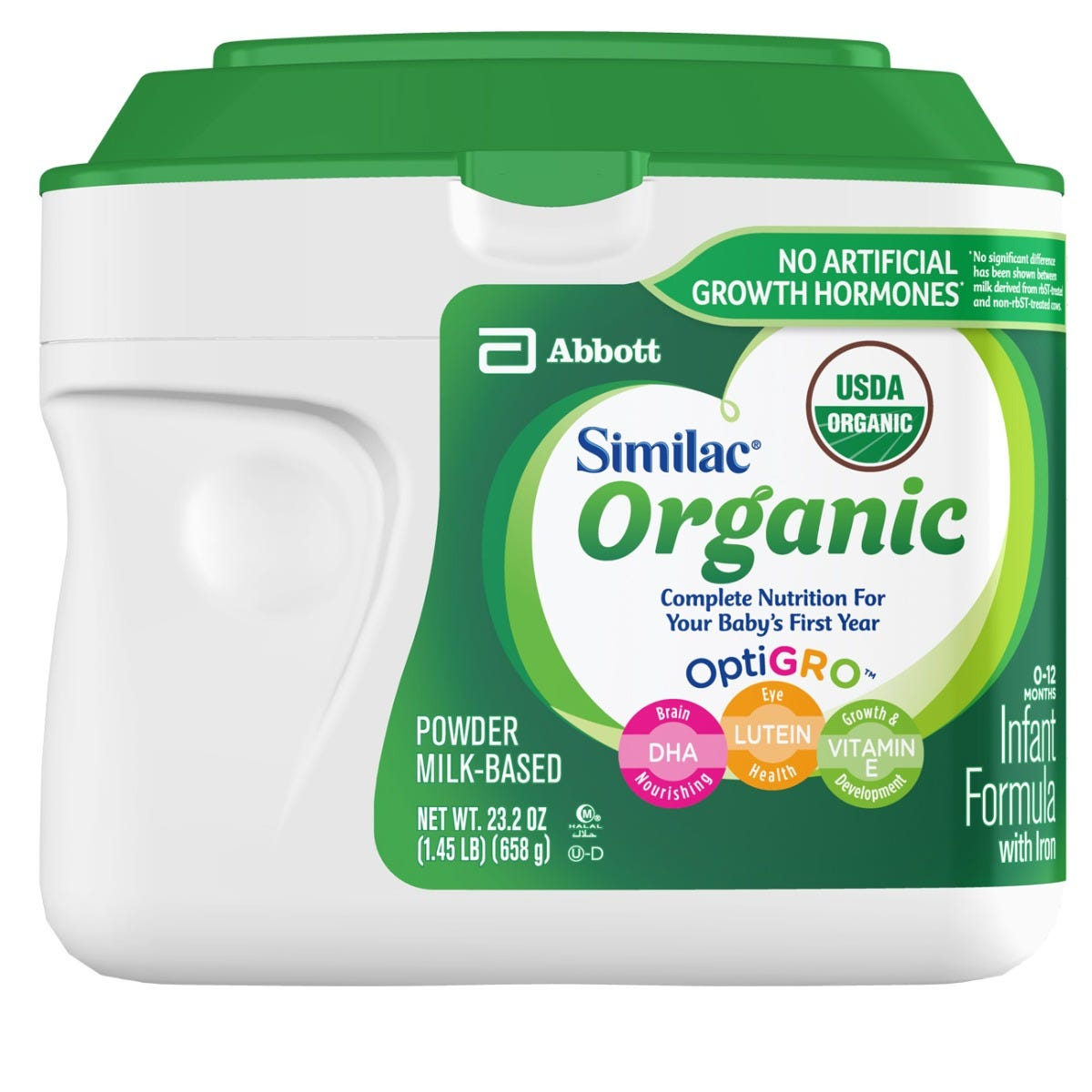 Abbott Infant Products Similac Organic Infant Formula Powder 1 45 Lb Container