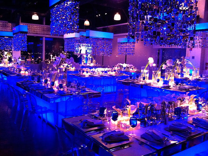 LED lighting at event