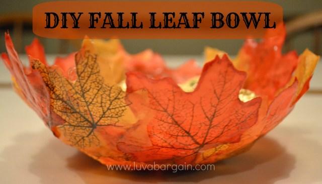 Fall centerpieces leaf bowl