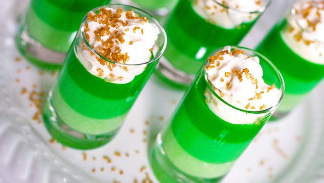St Patrick's Day Jello Shots
