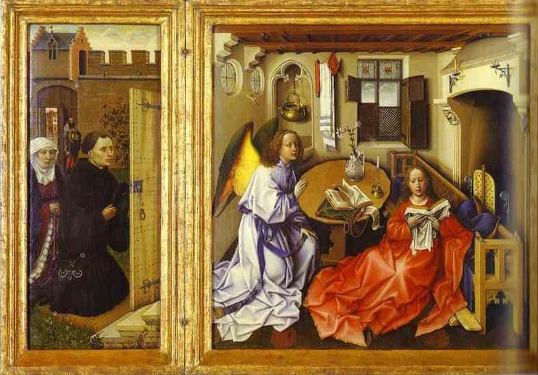 Fireplace Photos Robert Campin. The Annunciation. (the Merode Altarpiece