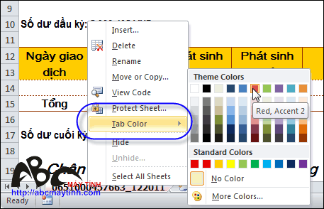 Mẹo nhỏ với sheet trong Microsoft Excel