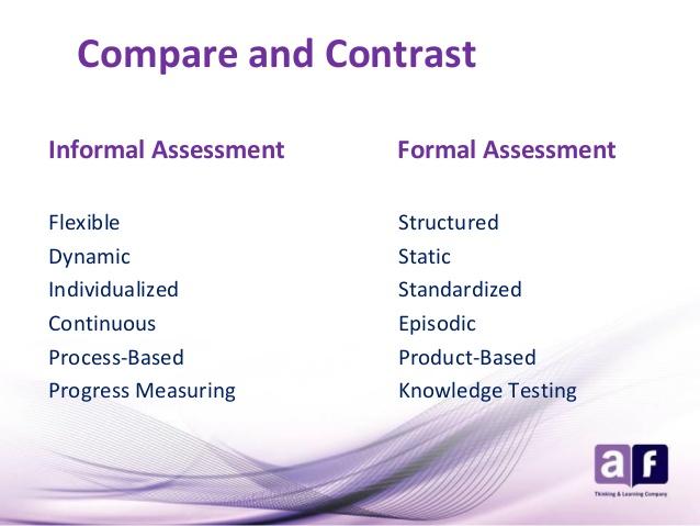 Formal and Informal Assessments \u2013 Principles and Methods of Assessment